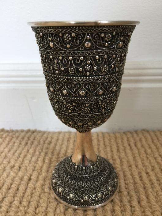 Kiddush cup - Shevach shevach Jerusalem