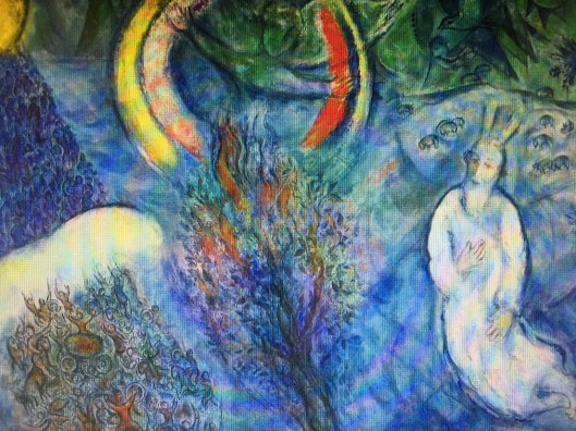 Moses at the Burning Bush - Marc Chagall